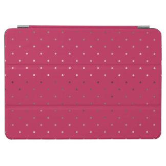 tiny faux rose gold pink polka dots pattern iPad air cover
