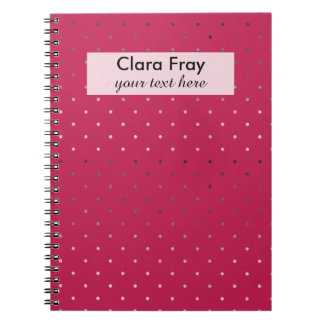 tiny faux rose gold pink polka dots pattern notebook