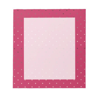tiny faux rose gold pink polka dots pattern notepad