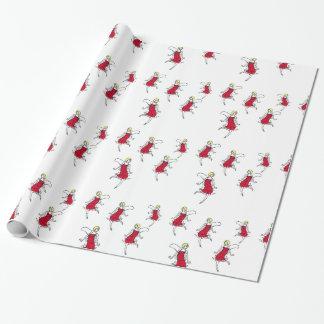 Tiny Flapper brigade, roaring twenties gift wrap