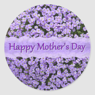 Tiny floral in lilac classic round sticker