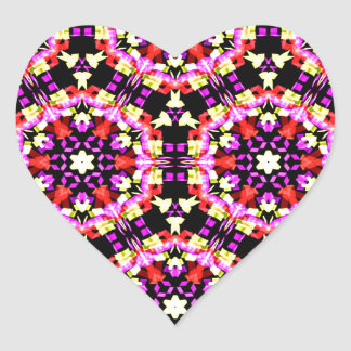 Tiny Floral Pattern Heart Sticker