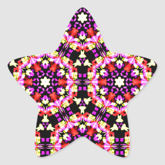 Tiny Floral Pattern Star Sticker
