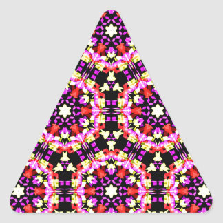 Tiny Floral Pattern Triangle Sticker
