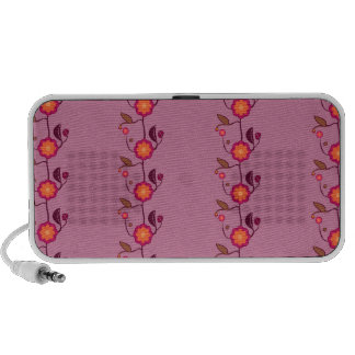 Tiny flowers on pink - pattern notebook speakers