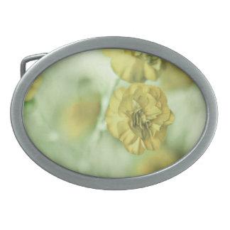 Tiny Flowers Yellow Belt Buckle