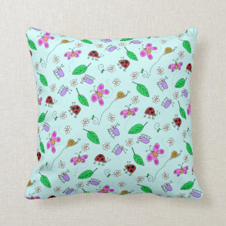 Tiny Garden Throw Pillow