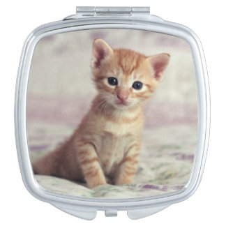 Tiny Ginger Kitten Travel Mirror