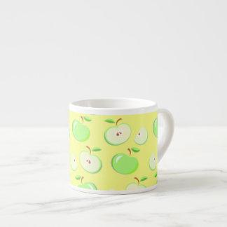 Tiny Green Apples Fruit Espresso Coffee Mug