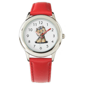 Tiny Heart Yorkie Terrier Wrist Watch