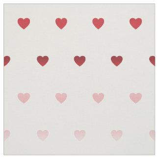 tiny hearts pattern fabrics red toned fabric