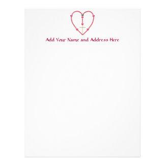 Tiny hearts Rosary Personalized Letterhead