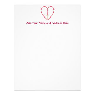 Tiny hearts Rosary Personalized Letterhead