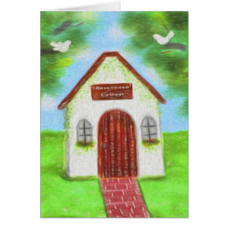 Tiny Honeymoon Cottage Wedding Thank You Card