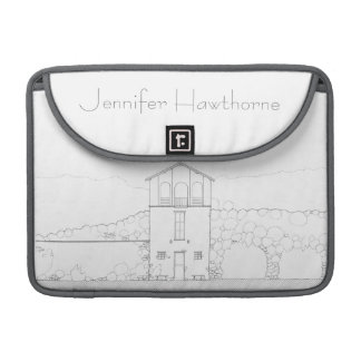 Tiny House Black & White Architecture Personalized MacBook Pro Sleeve