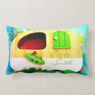 tiny house casa caravan lumbar pillow