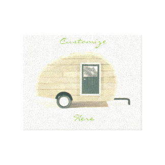 tiny house gypsy caravan natural Thunder_Cove Canvas Print