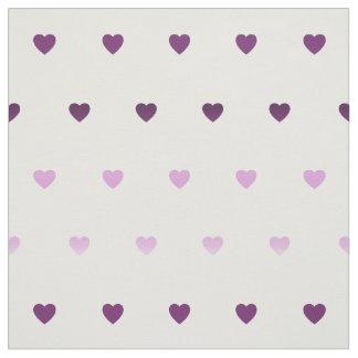 tiny little hearts pattern fabrics purple toned fabric