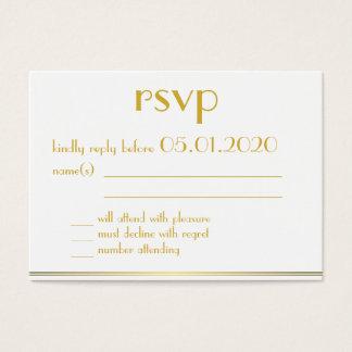 Tiny Monogrammed Great Gatsby Wedding RSVP Cards
