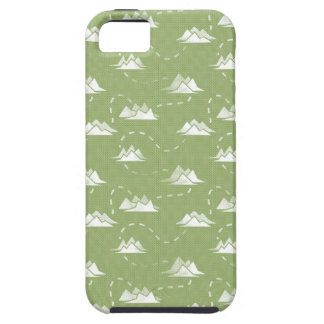 Tiny Mountains Trail GREEN-WHITE Pattern Case For The iPhone 5
