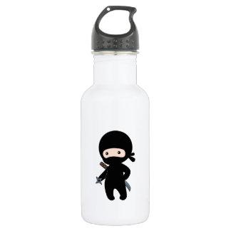 Tiny Ninja Holding Throwing Star 532 Ml Water Bottle