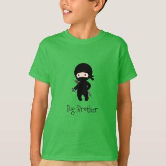 Tiny Ninja Holding Throwing Star - Big Brother T-Shirt