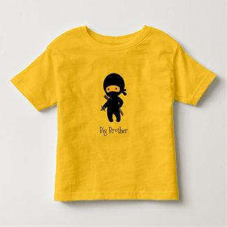 Tiny Ninja Holding Throwing Star - Big Brother Toddler T-shirt