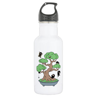 Tiny Ninjas in Bonsai Tree 532 Ml Water Bottle