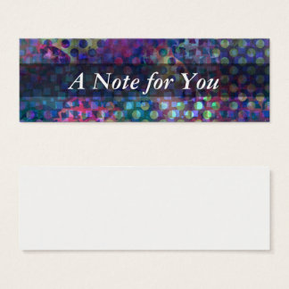 Tiny Notes on Multicolored Abstract Digital Art Mini Business Card