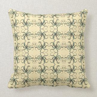 Tiny Octopus Cotton Throw Pillow