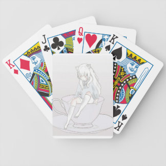 tiny pastel tea party bicycle playing cards