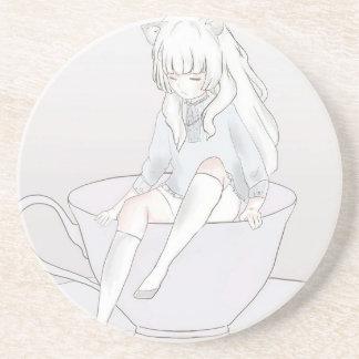 tiny pastel tea party coaster