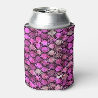 Tiny Pink Bling Pattern Can Cooler
