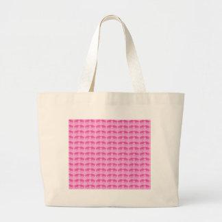 Tiny Pink Triceratops Print Large Tote Bag