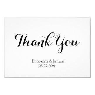 "Tiny Plain White Wedding Thank You Card 3.5"" X 5"" Invitation Card"