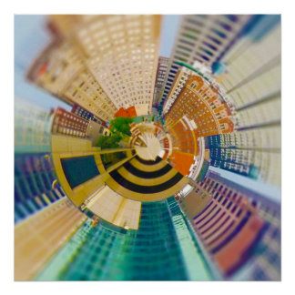 Tiny Planet Downtown Kansas City, Mo. Poster