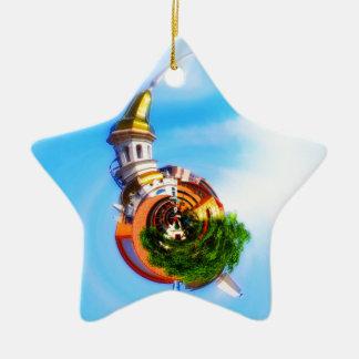 Tiny Planet Figlio's Restaurant Country Club Plaza Ceramic Ornament