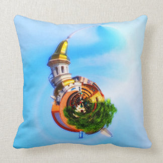 Tiny Planet Figlio's Restaurant Country Club Plaza Throw Pillow