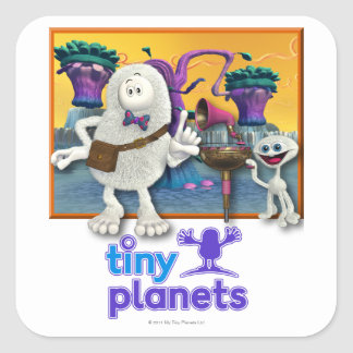 Tiny Planets Jammin' Session Square Sticker