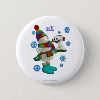 Tiny Planets Snow Problem 2 Inch Round Button