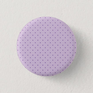 Tiny Purple Polka-Dots on Light Purple 1 Inch Round Button