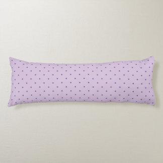 Tiny Purple Polka-Dots on Light Purple Body Pillow