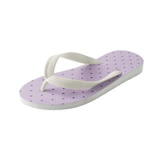 Tiny Purple Polka-Dots on Light Purple Kid's Flip Flops