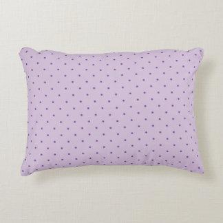 Tiny Purple Polka-Dots on Light Purple Pillow Accent Pillow