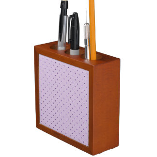 Tiny Purple Polka-Dots on Purple Desk Organizer