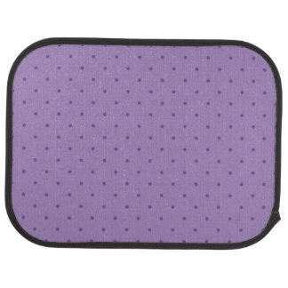 Tiny Purple Polka-Dots on Purple Rear Car Mats