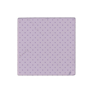 Tiny Purple Polka-Dots on Purple Stone Magnets