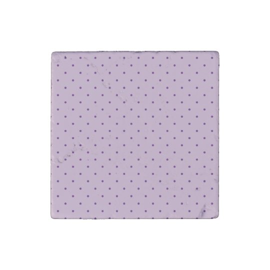 Tiny Purple Polka-Dots on Purple Stone Magnets