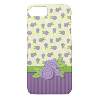 Tiny Purple Roses iPhone 7 Case