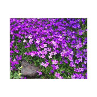 Tiny Purple Wildflowers Canvas Print